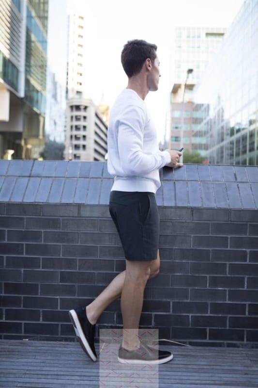 modelo Slip On masculino de couro