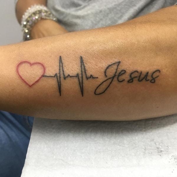 tattoo de Jesus escrita