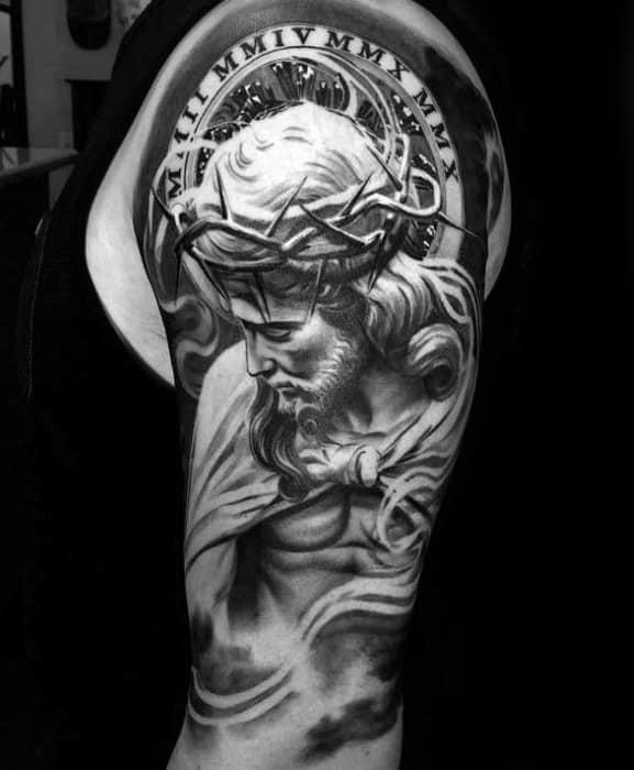 tattoo de Jesus realista 3D