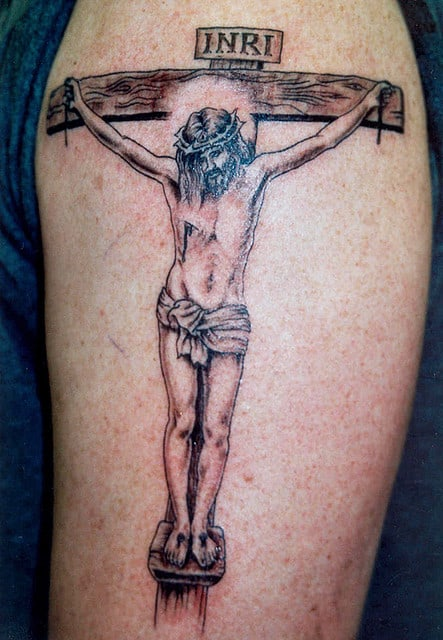 tatuagem de Jesus Cristo na cruz 1