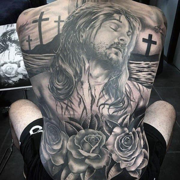 tatuagem de Jesus nas costas ideias