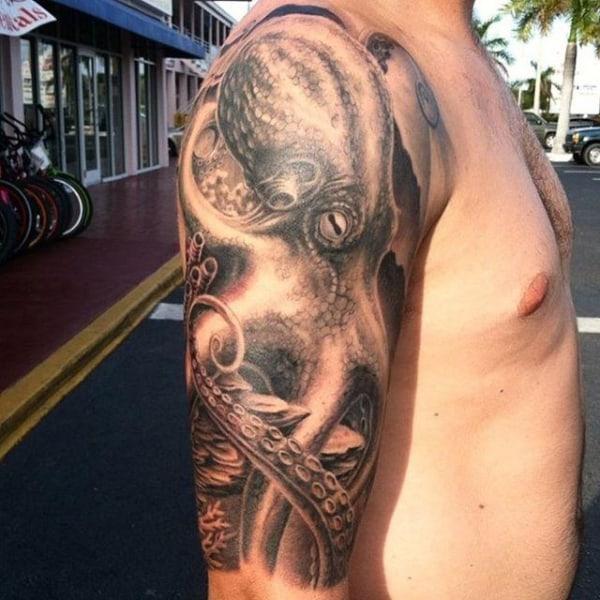 tatuagem de polvo realista ideias
