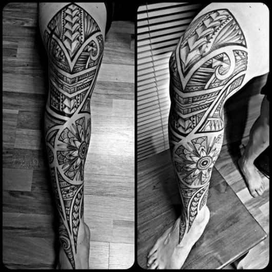tribal na perna fechada