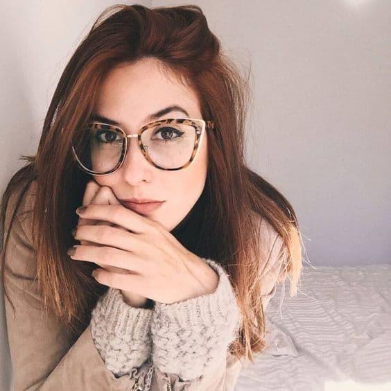 Óculos Tumblr de grau animal print