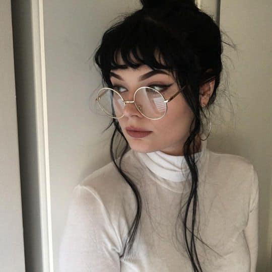Óculos Tumblr de grau clean