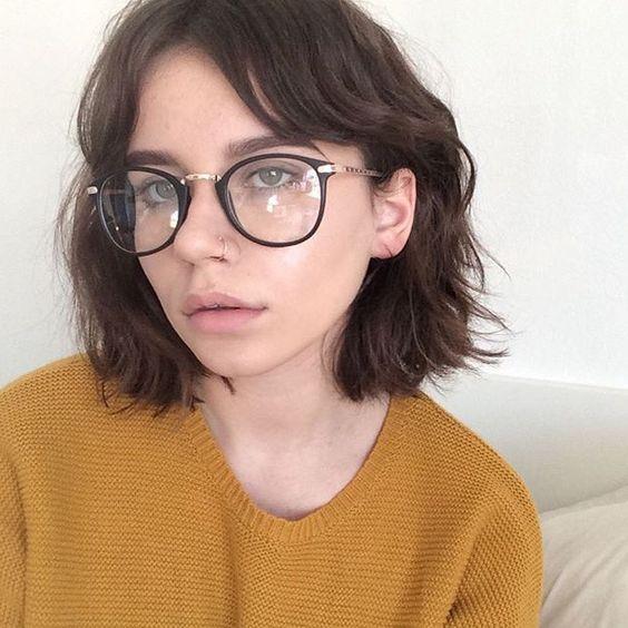 Óculos de grau preto Tumblr