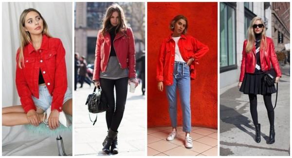 como usar jaqueta vermelha