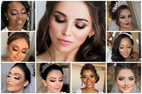 ideias de maquiagem para noiva