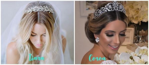 diferença entre tiara e coroa de noiva