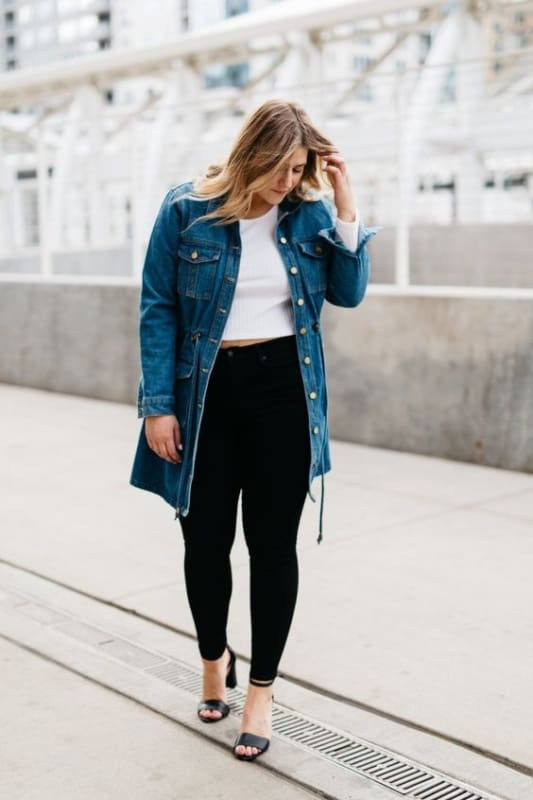 look com parka jeans plus size