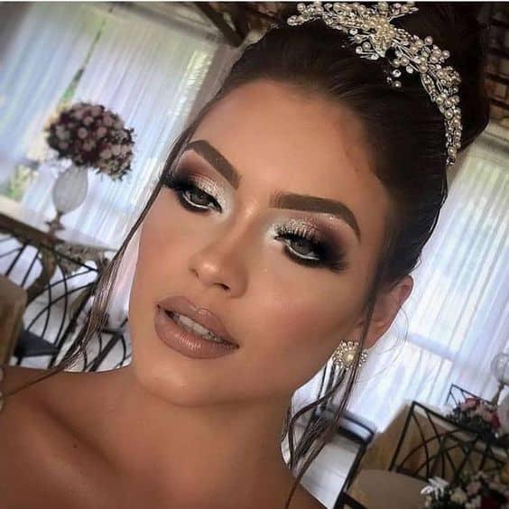 maquiagem de casamento a noite