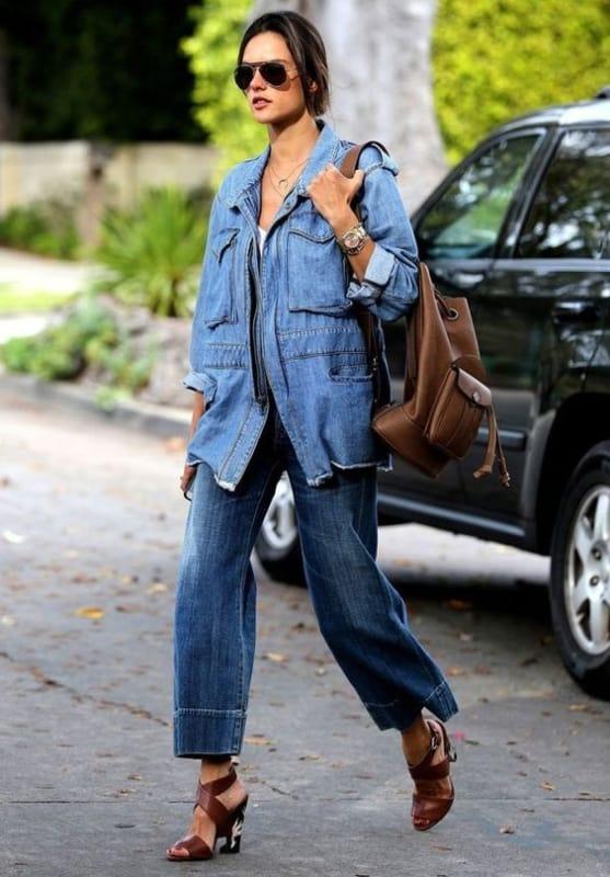 look jeans com parka