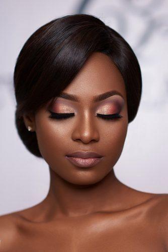 maquiagem de noiva delicada para pele negra