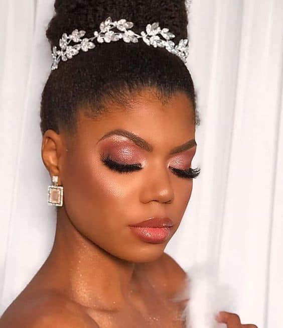 maquiagem de casamento para negra