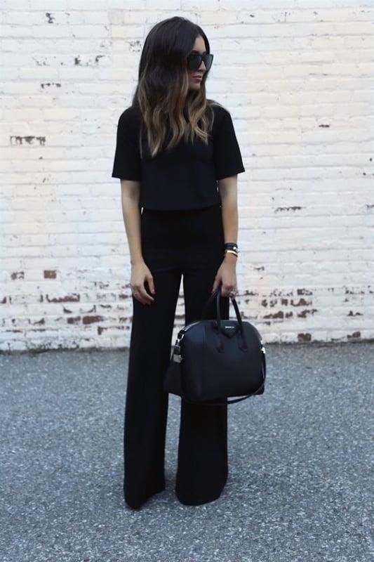 look formal com calça social preta