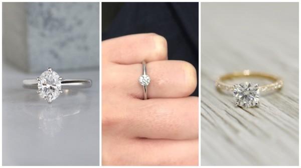 modelos de anel de diamante para noivado