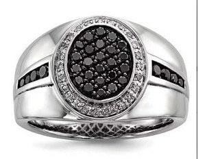 anel masculino com diamante negro
