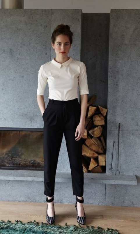 como usar calça social preta