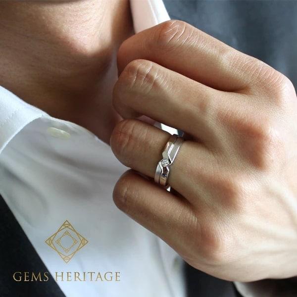 anel para homem com diamante