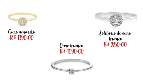 modelos anel de diamante Vivara