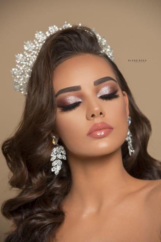 maquiagem de brilho para noiva