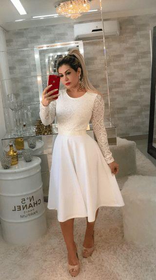 vestido de noiva evangélica para casamento civil