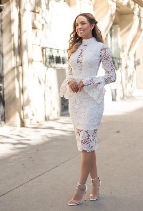 vestido de renda branca para casamento evangélico