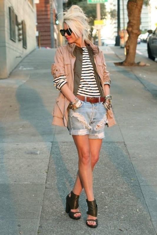 look feminino com parka rosa