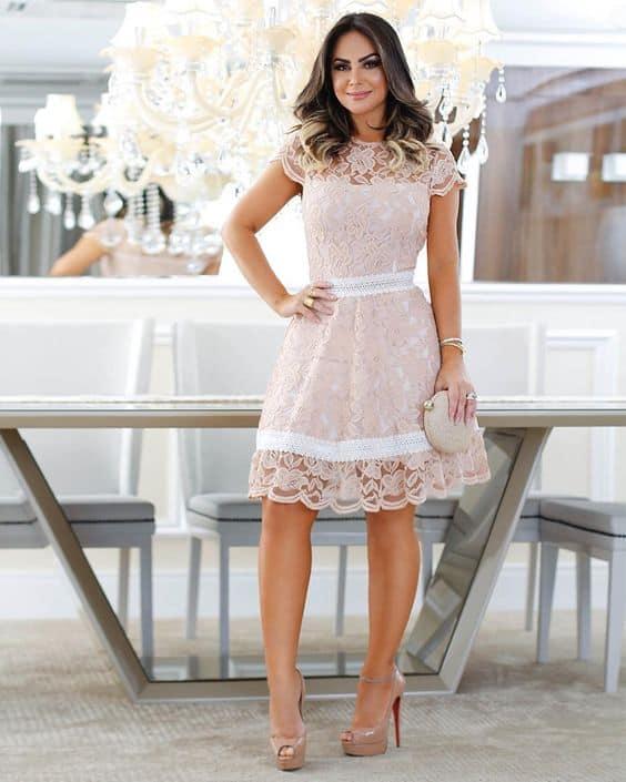 vestido de noiva rosé para casamento civil