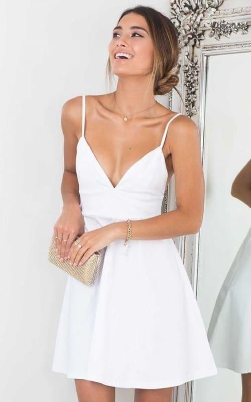 vestido curto de alcinha para casamento no cartório