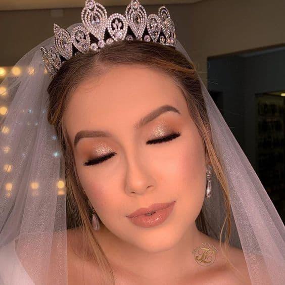 maquiagem delicada para casamento