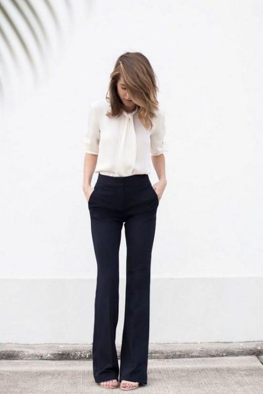 look com calça social para entrevista de emprego