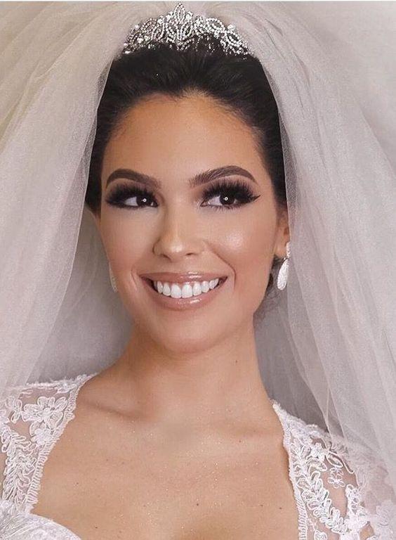 maquiagem de noiva com gloss
