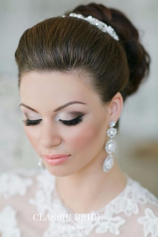 maquiagem esfumada para noiva clássica