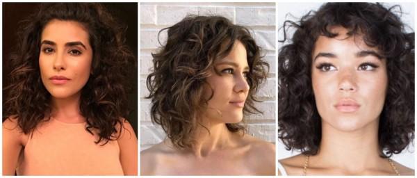 cabelo ondulado médio repicado