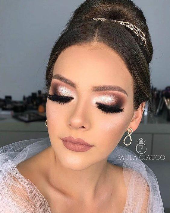 maquiagem de noiva para casamento noturno