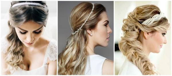 modelos de tiara de pérolas para noiva