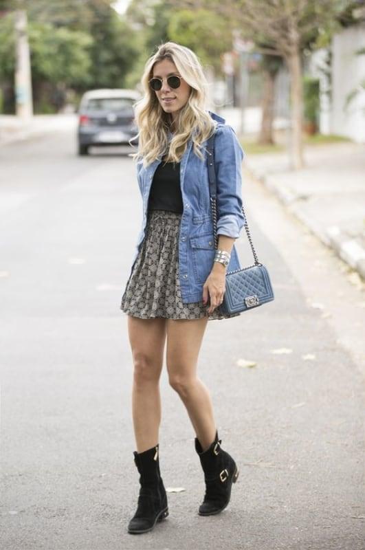 look casual com parka jeans