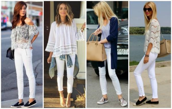 A calça branca é perfeita para usar no verão