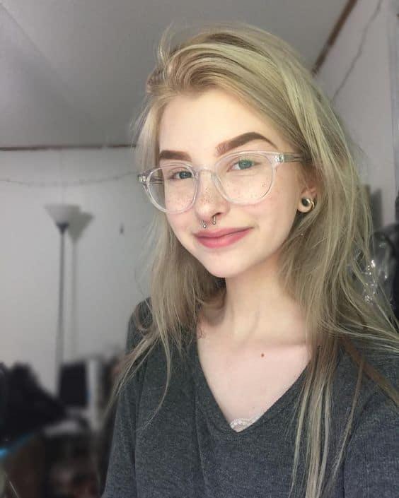 Armação acrílica transparente de óculos Tumblr