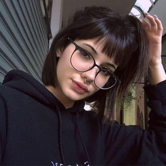 Armação de óculos preta Tumblr