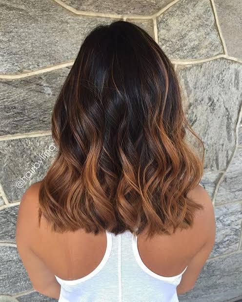 Balaiagem caramelo em cabelo curto4