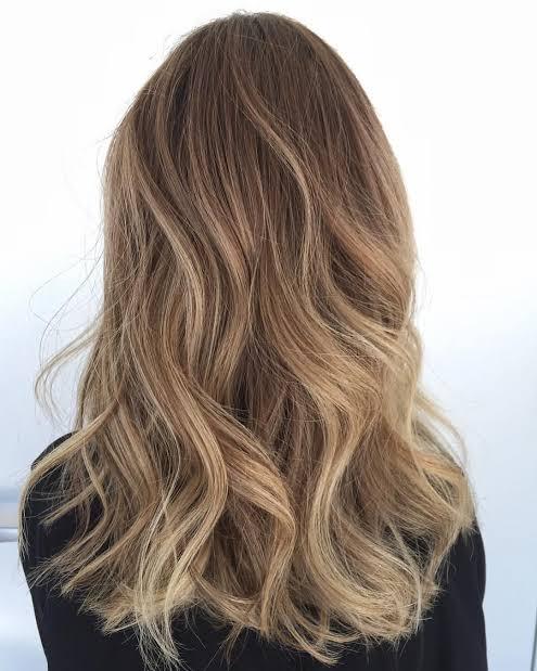 Balaiagem mel em cabelo liso12