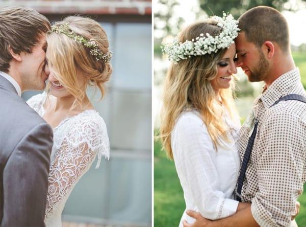 Coroa de flores perfeita para casamentos despojados