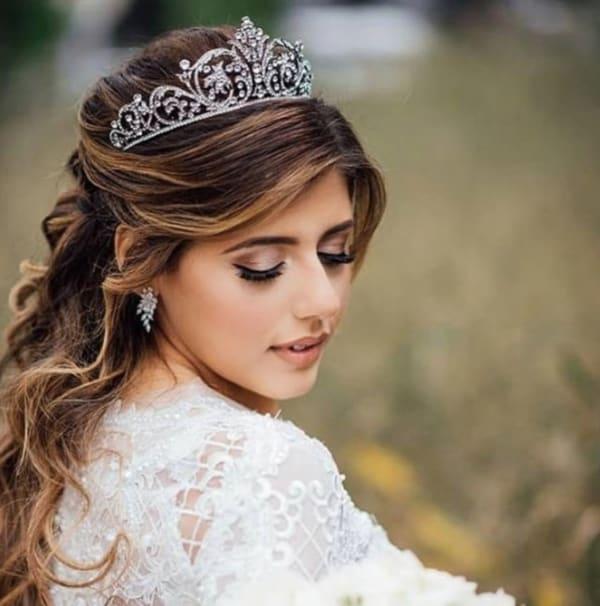 Coroa para noiva tradicional
