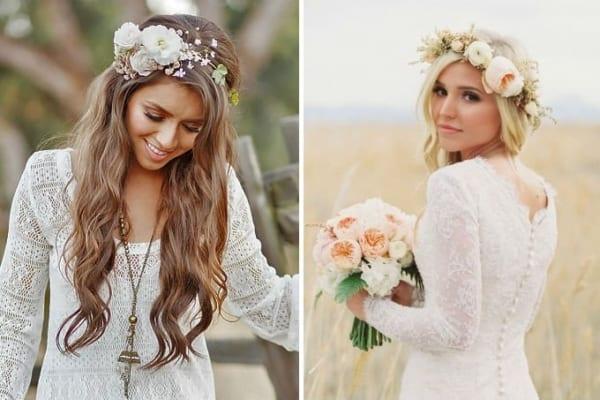 Coroas de flores super delicadas