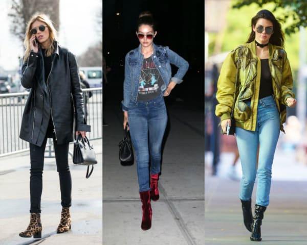 Exemplos de como botas de cano médio ficam com a skinny