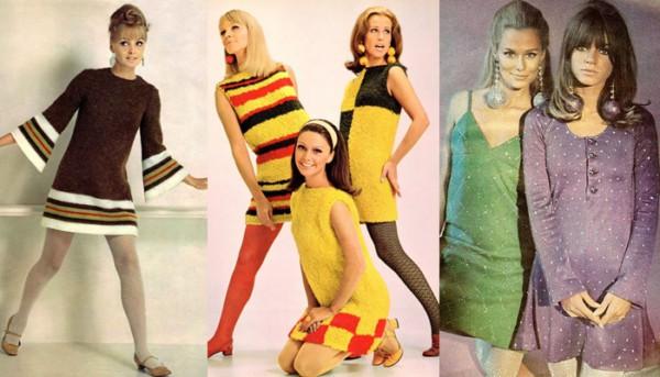 Inspirações de vestidos retrô na década de 60