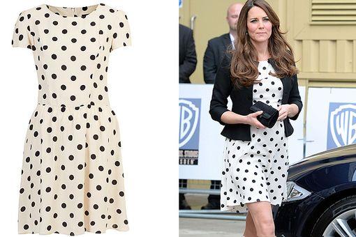 Kate Middleton com vestido de poás curto 1