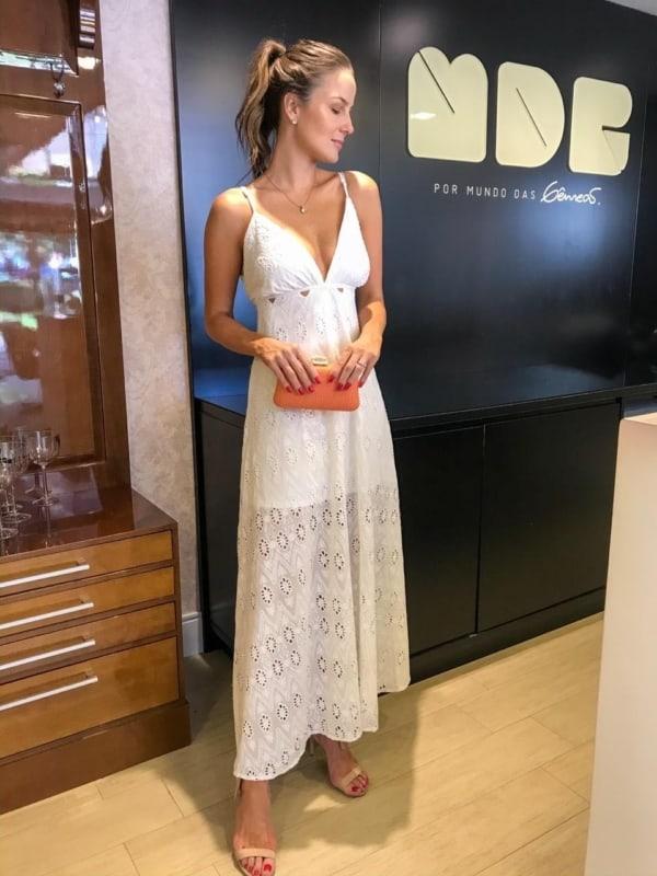 Look fresquinho com vestido off white